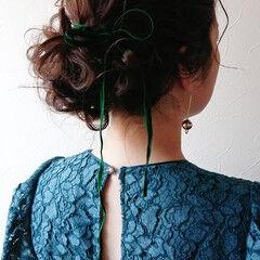 パーティー ゆるふわ 卒業式 ミディアム ヘアスタイルや髪型の写真・画像
