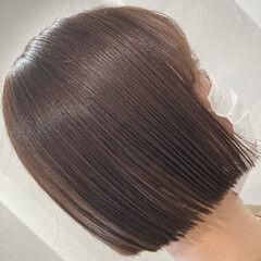 切りっぱなしボブ ボブ ナチュラル ショートヘア ヘアスタイルや髪型の写真・画像
