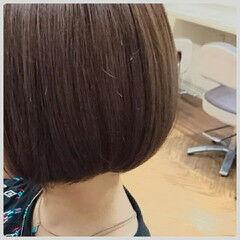 ストレート 大人かわいい 縮毛矯正 ショート ヘアスタイルや髪型の写真・画像