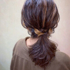 ヘアアレンジ パーティ フェミニン セミロング ヘアスタイルや髪型の写真・画像