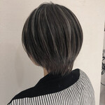 ショート ショートヘア ミニボブ 3Dカラー