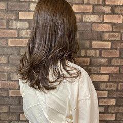 透明感 ナチュラル ブリーチなし ラベンダーグレージュ ヘアスタイルや髪型の写真・画像