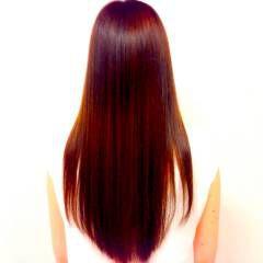 ナチュラル ロング ピンク 艶髪 ヘアスタイルや髪型の写真・画像