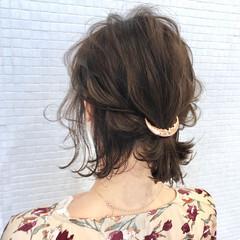ナチュラル ボブ ヘアアクセサリー ポニーテール ヘアスタイルや髪型の写真・画像