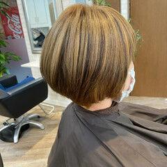 ナチュラル ショートボブ ボブ ローライト ヘアスタイルや髪型の写真・画像