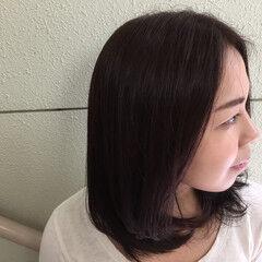秋 ミディアム 大人女子 ピンク ヘアスタイルや髪型の写真・画像