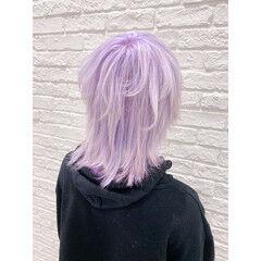 ホワイトアッシュ ホワイトカラー ストリート ショートヘア ヘアスタイルや髪型の写真・画像