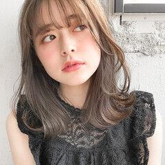 韓国ヘア ミディアム デート 大人かわいい ヘアスタイルや髪型の写真・画像