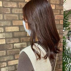 透明感 艶髪 大人ミディアム ミディアム ヘアスタイルや髪型の写真・画像