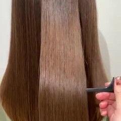 ナチュラル ブラウンベージュ 髪質改善 髪質改善トリートメント ヘアスタイルや髪型の写真・画像