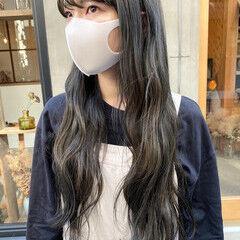 透明感 透明感カラー くすみカラー ナチュラル ヘアスタイルや髪型の写真・画像