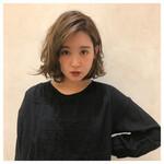 ベージュ シナモンベージュ 透け感ヘア モテ髪