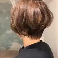 ショート 大人かわいい ハイライト デート ヘアスタイルや髪型の写真・画像
