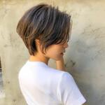 ミニボブ ショート ナチュラル ショートヘア