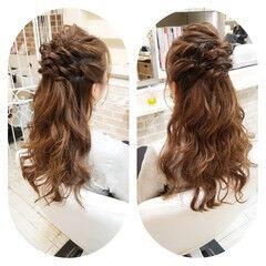エレガント 結婚式 冬 上品 ヘアスタイルや髪型の写真・画像
