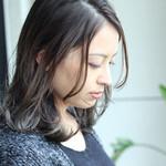 グレージュ 3Dハイライト ミディアム 秋冬スタイル
