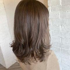 アディクシーカラー ナチュラル 透明感カラー 透け感 ヘアスタイルや髪型の写真・画像
