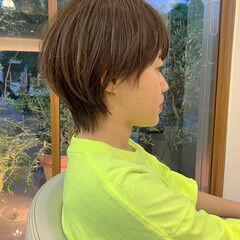 ウルフ女子 ショート ショートヘア フェミニンウルフ ヘアスタイルや髪型の写真・画像