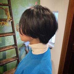 高校生 秋冬ショート 大人可愛い ショートボブ ヘアスタイルや髪型の写真・画像