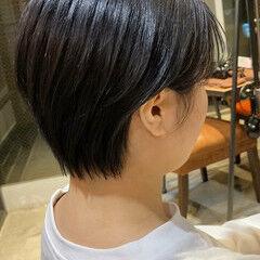 大人ショート 耳かけ ショートヘア 髪質改善トリートメント ヘアスタイルや髪型の写真・画像