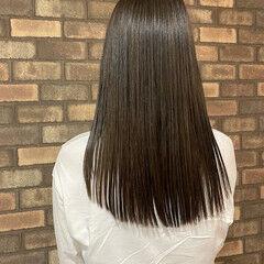 ロング ロングヘア イルミナカラー 縮毛矯正 ヘアスタイルや髪型の写真・画像