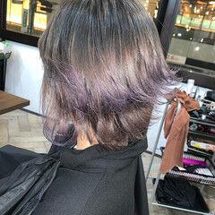 ショートヘア ストリート 大人遊び心満点アシメヘアー 裾カラー ヘアスタイルや髪型の写真・画像