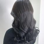 暗髪 3Dハイライト 艶髪 透明感カラー