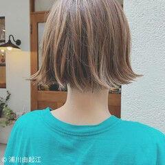 秋冬ショート 切りっぱなしボブ ボブ ナチュラル ヘアスタイルや髪型の写真・画像