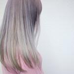 外国人風カラー アッシュ 金髪 ホワイト