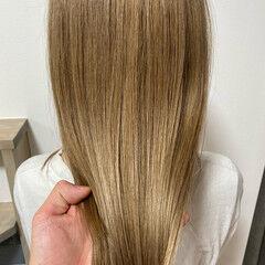 髪質改善トリートメント 髪質改善カラー セミロング ナチュラル ヘアスタイルや髪型の写真・画像