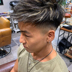 ハイライト メッシュ スキンフェード ブリーチ ヘアスタイルや髪型の写真・画像
