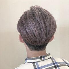 メンズカラー モード ショートヘア グレージュ ヘアスタイルや髪型の写真・画像