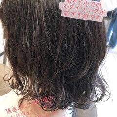 ボブ ナチュラル ゆるふわパーマ ナチュラルデジパ ヘアスタイルや髪型の写真・画像