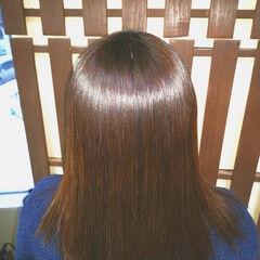 ナチュラル ミディアム 艶髪 フォルムコントロールプレックス髪質改善 ヘアスタイルや髪型の写真・画像