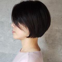 モード ショートボブ 大人女子 大人可愛い ヘアスタイルや髪型の写真・画像