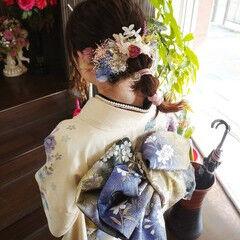 和装髪型 ヘアアレンジ 結婚式髪型 セミロング ヘアスタイルや髪型の写真・画像