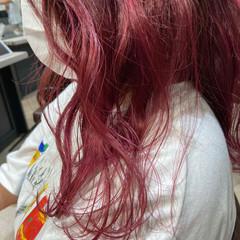 ピンクラベンダー ベリーピンク ミディアム ラズベリーピンク ヘアスタイルや髪型の写真・画像