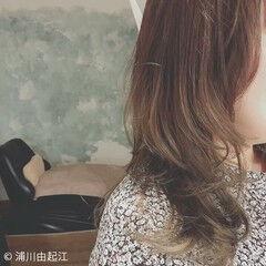 エレガント ロング 大人かわいい アンニュイほつれヘア ヘアスタイルや髪型の写真・画像