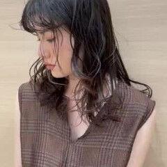 ナチュラル パーマ ゆるふわパーマ パーマボブ ヘアスタイルや髪型の写真・画像