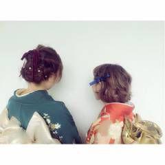 振袖 ヘアスタイルや髪型の写真・画像