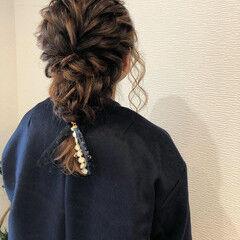 ヘアアレンジ ミディアム ガーリー 成人式ヘア ヘアスタイルや髪型の写真・画像