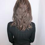 髪質改善カラー セミロング グラデーションカラー 髪質改善トリートメント