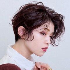 刈り上げ女子 ベリーショート ハンサムショート フェミニン ヘアスタイルや髪型の写真・画像