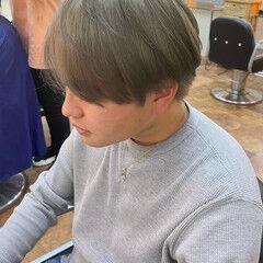 シルバーアッシュ ブリーチオンカラー ストリート メンズスタイル ヘアスタイルや髪型の写真・画像