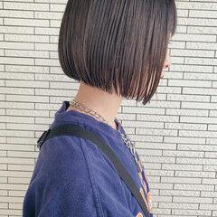 ナチュラル ボブ ショートボブ ミニボブ ヘアスタイルや髪型の写真・画像