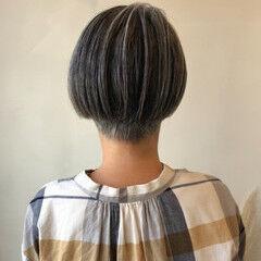 ミニボブ 白髪染め ショートボブ ショート ヘアスタイルや髪型の写真・画像