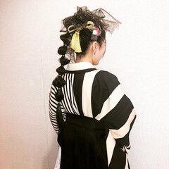 たまねぎアレンジ 卒業式 モード 黒髪 ヘアスタイルや髪型の写真・画像
