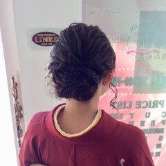 ヘアアレンジ 着物 ミディアム 成人式ヘアメイク着付け ヘアスタイルや髪型の写真・画像