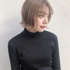 ハイトーンカラー 外国人風カラー ボブ アンニュイほつれヘア ヘアスタイルや髪型の写真・画像