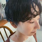ショートヘア ゆるふわパーマ ワンカールパーマ ナチュラル